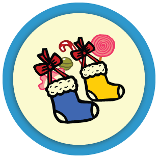 Boowa and Kwala's Christmas stockings
