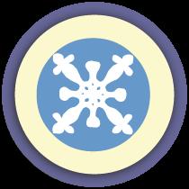 Make a paper snowflake
